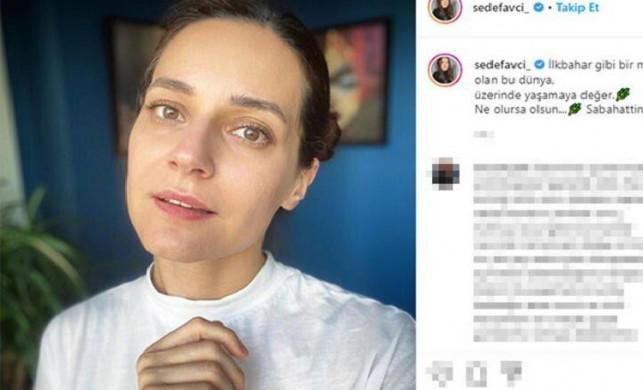 Ünlü oyuncu Sedef Avcı makyajsız fotoğrafını paylaştı