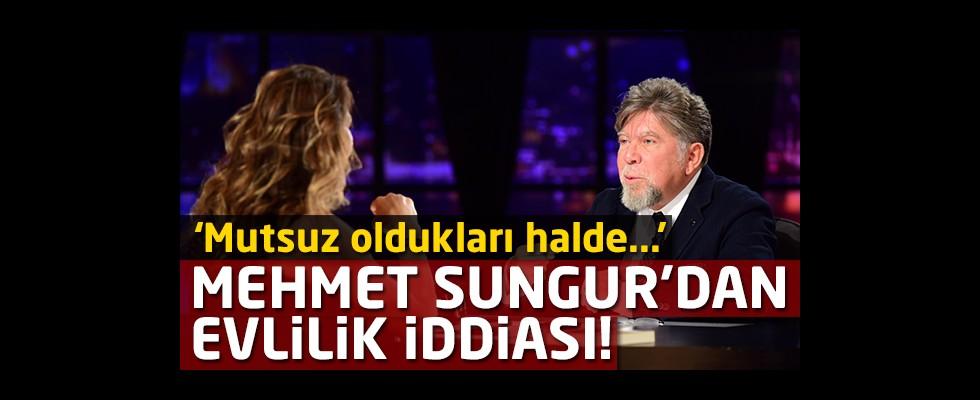 Mehmet Sungur: 'Mutsuz oldukları halde evliliklerini yürüten çiftler var'