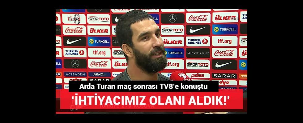Kaptan Arda Turan'ın maç sonu açıklamaları!