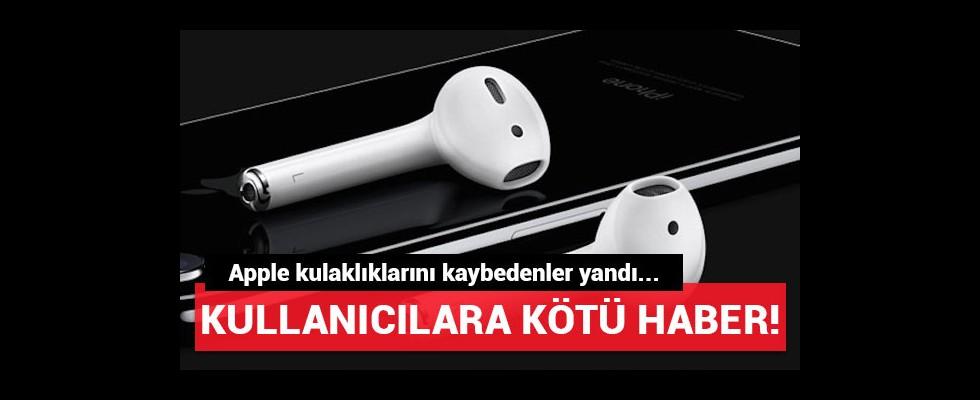 Apple kulaklıklarını kaybedenler yandı!