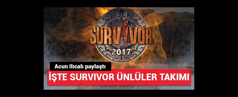 Acun Ilıcalı paylaştı; İşte Survivor ünlüler takımı tanıtımı!