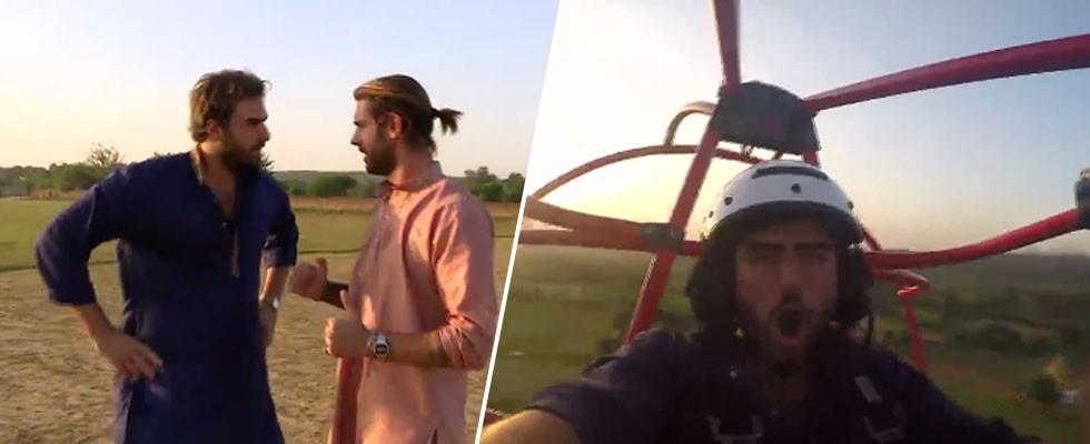 Yeni Delhi üzerinde uçtular!