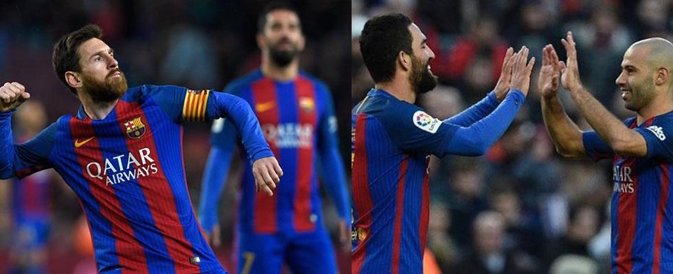 Arda Turan'lı Barcelona'dan gol yağmuru!