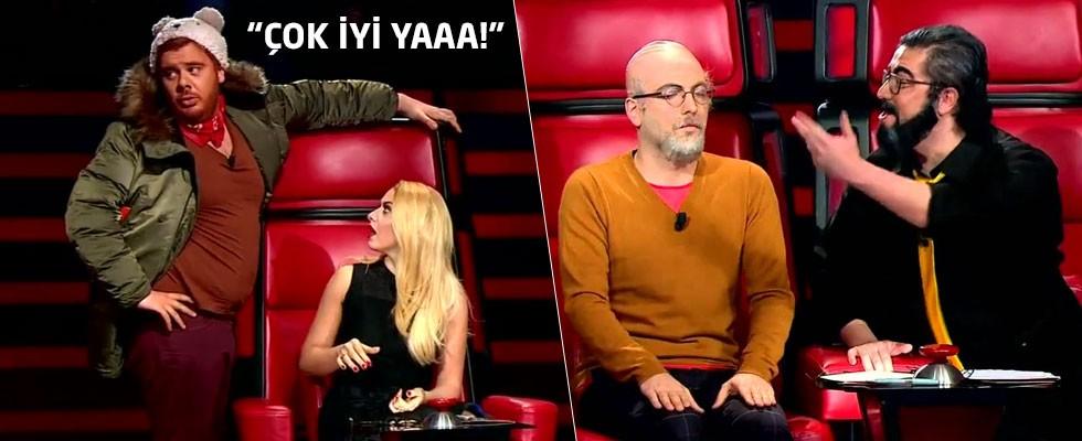 3 Adam'ın unutulmaz O Ses Türkiye skeci!
