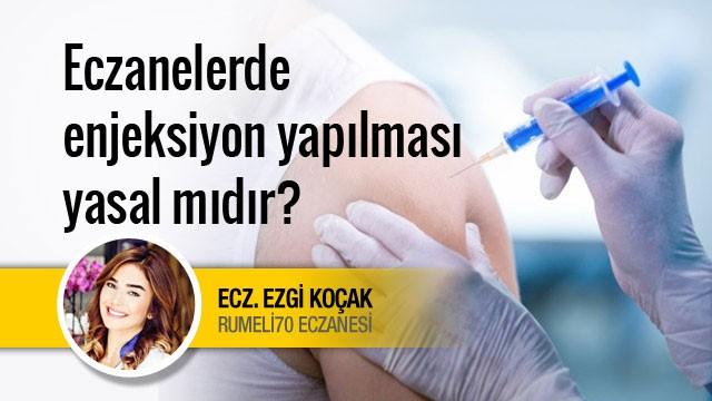 Eczanelerde enjeksiyon yapılması yasal mıdır?