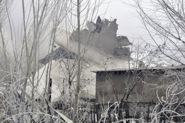 Bişkek'te Kargo uçağı düştü