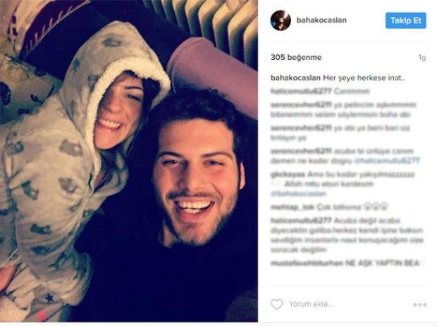 Pelin Öztekin'in Instagram sayfasından Baha Koçaslan ile olan fotoğraflarını kaldırması iddiaları güçlendirirken; Koçaslan dün akşam yeni bir fotoğraf paylaştı.