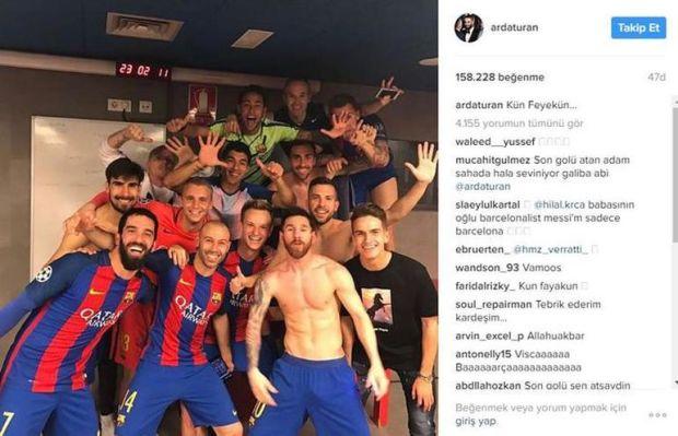 Arda Turan, Barcelona forması altında çıktığı tarihi maçın ardından yaptığı paylaşımla en çok konuşulan isimlerden biri oldu.