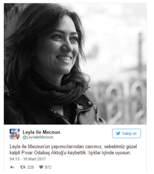 pınar odabaş aktuğ hayatını kaybetti