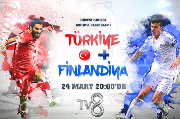 Türkiye - Finlandiya 2018 Dünya Kupası Grup Eleme karşılaşması yarın akşam 20:00'de canlı yayınla TV8'de