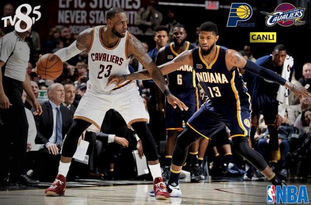 NBA Doğu Konferansında Play-Off ilk turunda bu akşam Cleveland Cavaliers ile Indiana Pacers karşı karşıya gelecek.  Lebron James, Kevin Love ve Kyrie Irving'lı kadrosuyla NBA'de şampiyonluğu hedefleyen son şampiyon Cleveland, normal sezonun son bölümünde yakaladıkları ivmeyle play-off'a kalma başarısı gösteren Paul George önderliğindeki Indiana'yı ağırlayacak. Basketbol severler bu keyifli mücadelenin tüm heyecanını canlı yayınla TV8,5 ekranlarında yaşayacak.  Cleveland Cavaliers – Indiana Pacers karşılaşması 15 Nisan Cumartesi 22.00'de canlı yayınla TV8,5'ta.