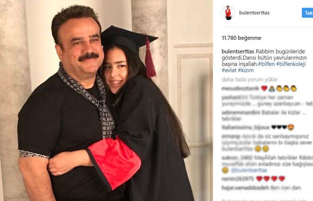 Şarkıcı Bülent Serttaş'ın kızı Miray, sekizinci sınıfı başarıyla bitirdi.  Serttaş, BilfenKolejinde okuyan kızının kepli fotoğrafını