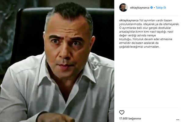 'Eşkıya Dünyaya Hükümdar Olmaz' dizisinin yıldızı Oktay Kaynarca, sosyal medya hesabından yaptığı paylaşımla kafa karıştırdı.