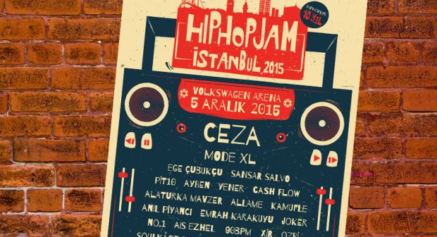 Türkiye hiphop arenasının tüm yıldızları 'HipHop Jam 2015'te buluşuyor