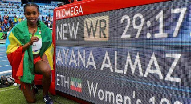 Almaz Ayana dünya rekorunu kırarak kazandı!