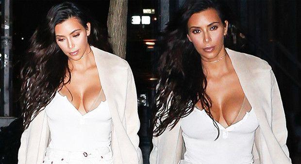 Kim Kardashian'ın akşam dekoltesi