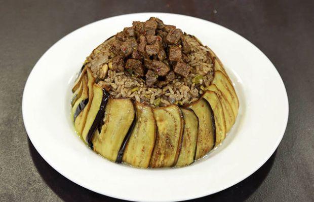 Patlıcanlı Antep Fıstıklı Pilav