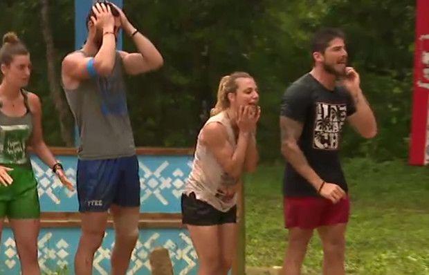 Damla ve Gizem'in mücadelesi takım arkadaşlarını çıldırttı!