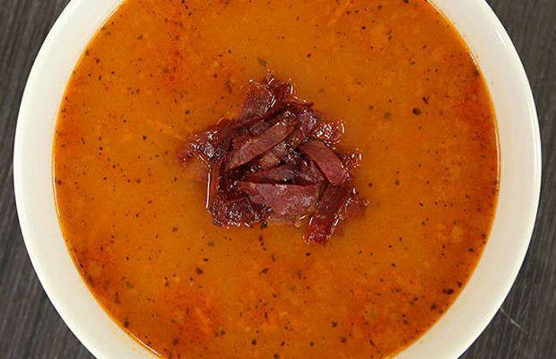 Pastırmalı Tarhana Çorbası tarifi...