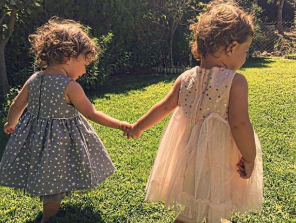 Ayça Bingöl'ün ikiz kızları büyüdü