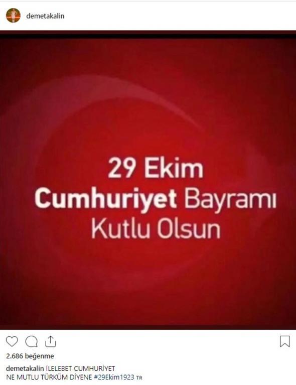 İşte ünlü isimlerin 29 Ekim paylaşımları! 'Yaşasın Cumhuriyet'