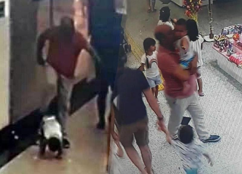 İzmir'de şoke eden görüntü! Bebeğe acımasızca tekme attı ve...