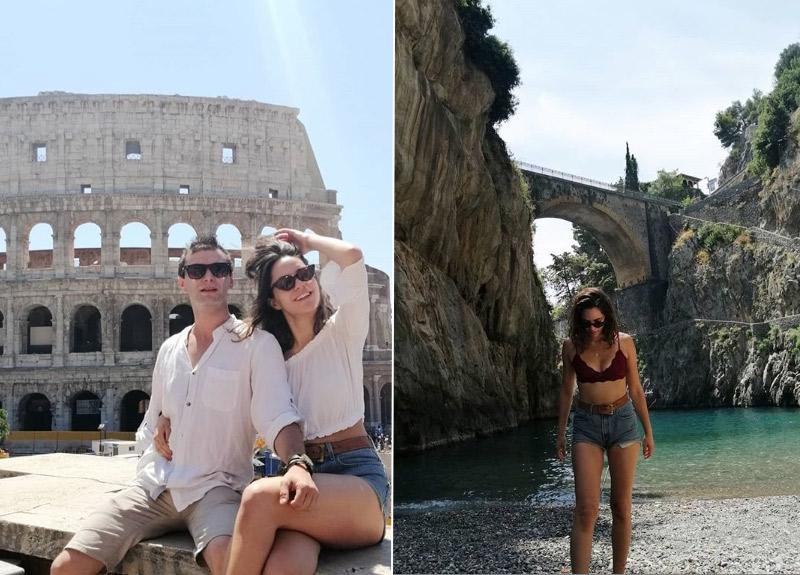 Aslı Melisa Uzun ve Yağız Can Konyalı'dan İtalya'da tatil keyfi