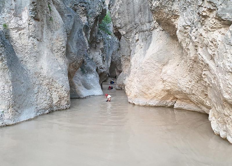 Harmankaya Kanyonu'nda adrenalin tutkunları buluştu