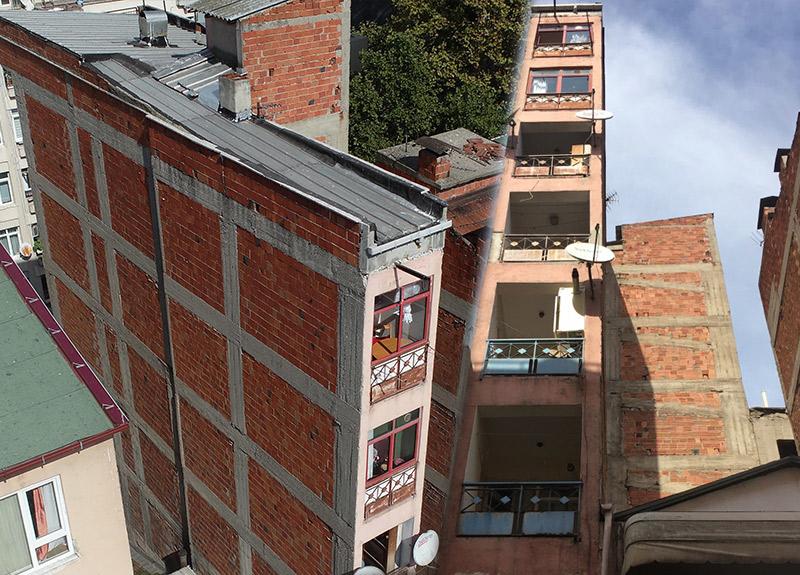 8 katlı binayı görenler büyük şaşkınlık yaşadı! Sebebi ise bir hayli ilginç...