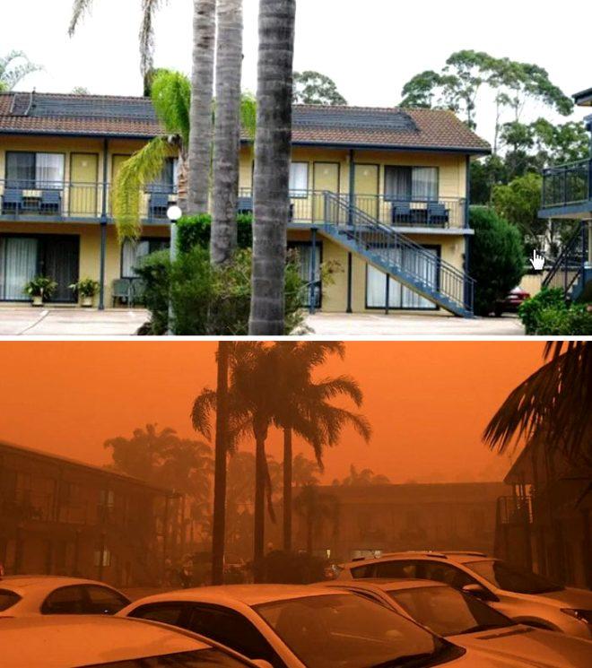 Fotoğraflarla Avustralya yangınlarının öncesi ve sonrası. İşte yangının ülkeye etkisini gösteren kareler…