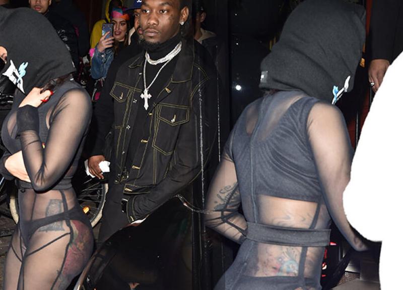 ABD'li rapçi Cardi B, iç çamaşırı giyerek sokağa çıktı