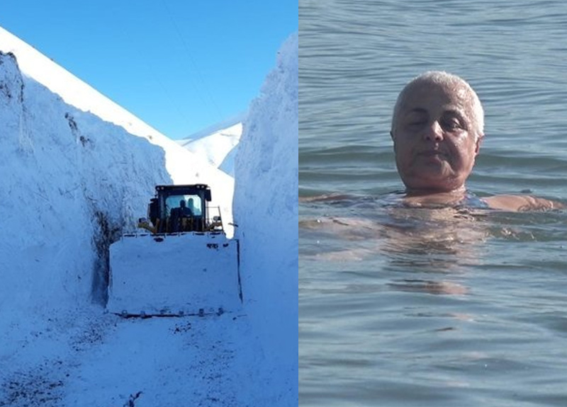 Doğu'da karla mücadele Batı'da deniz keyfi