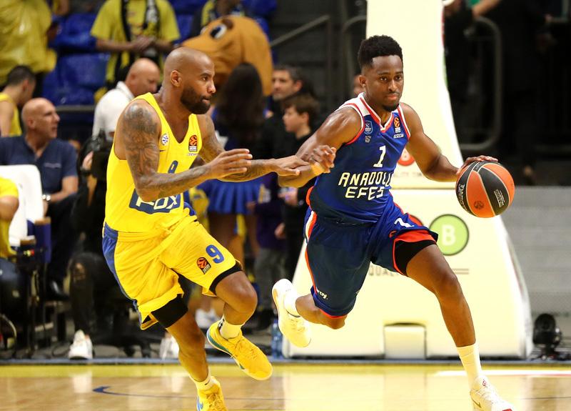 Anadolu Efes, Maccabi FOX'a 77-75 mağlup oldu