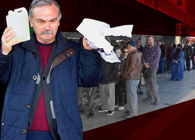 İzmir'de koronavirüs için kolonya sırası! Metrelerce kuyruk oluştu...