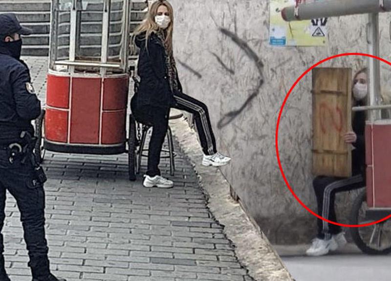 İstanbul'da hareketli dakikalar! Polis karantinadan kaçan kadının etrafını sardı...