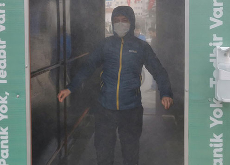 Koronavirüse karşı dezenfeksiyon tünelleri 'riskli' iddiası