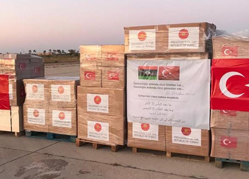 Türkiye Libya'ya sağlık malzemesi gönderdi