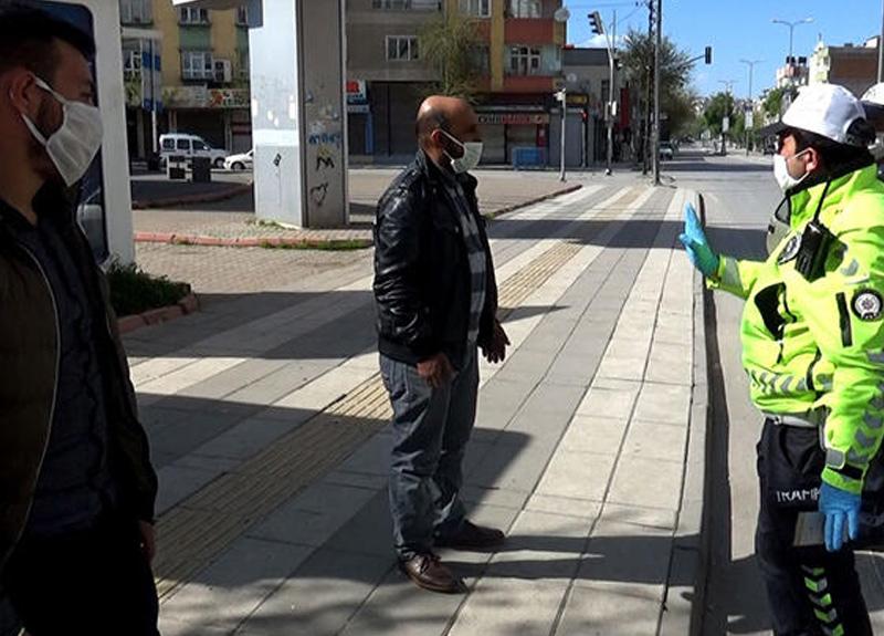 Sokağa çıkma yasağını ihlal ettiler, polise yakalanınca dil döktü