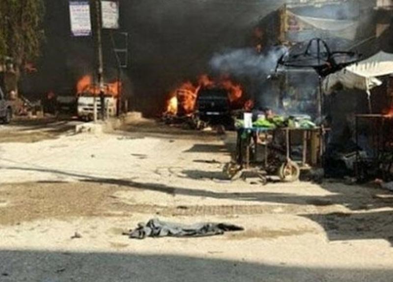 Afrin'de bomba yüklü tankerle terör saldırısı: 11'i çocuk 40 ölü