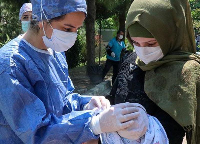 Koronavirüse yakalanan Suriyeli Aziz bebek taburcu edildi!