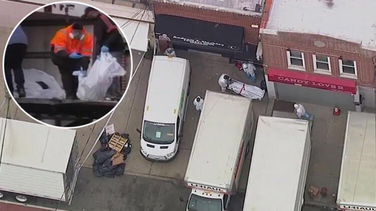 Cenaze evinin önündeki kamyonlardan 100 tane çürümüş ceset çıktı! Corona virüs...