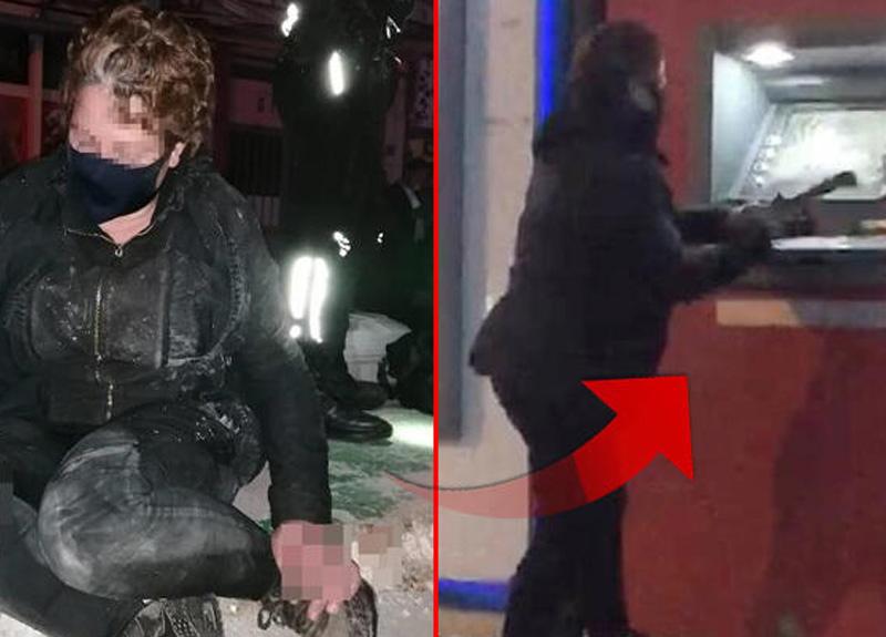 Bursa'da, babasıyla yaşadığı miras tartışmasının ardından kızıp ATM'lere saldıran kadın suç makinesi çıktı