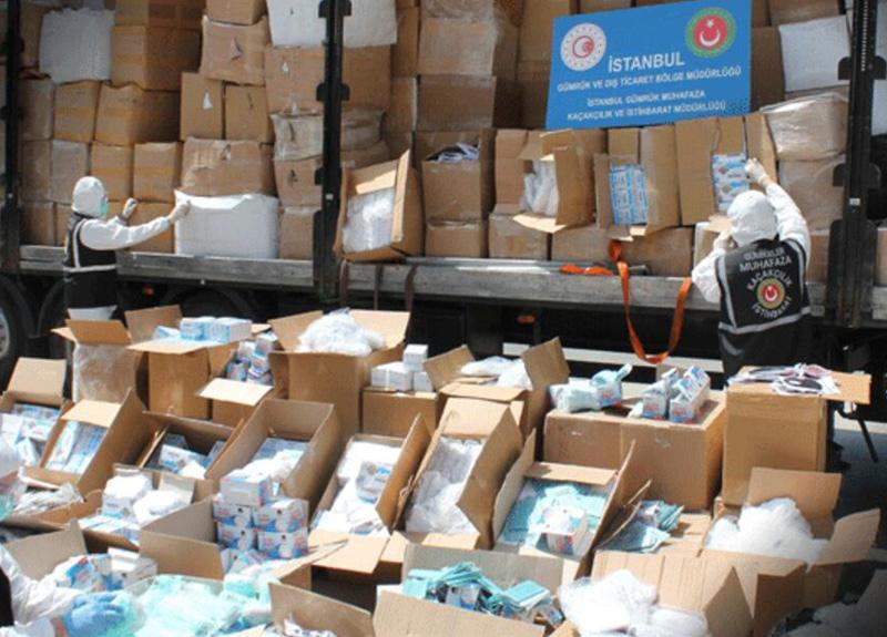 İstanbul Muratbey Gümrük Sahası'nda dev operasyon: Yüz binlerce ürün ele geçirildi