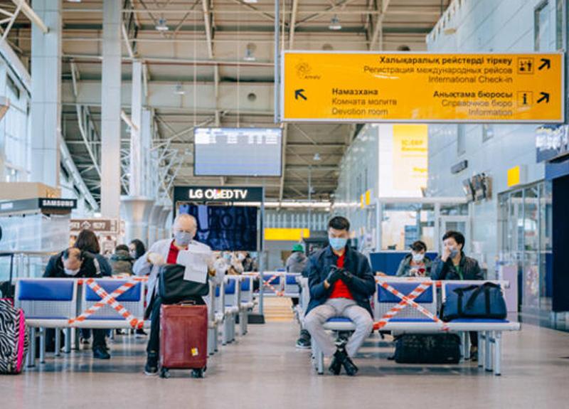 Havalimanları için sosyal mesafe uyarı