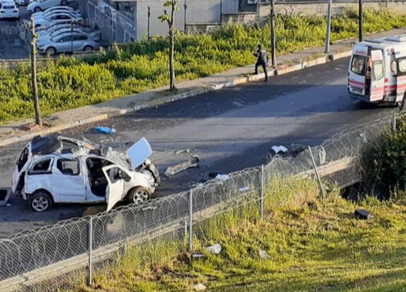 TEM'de feci kaza! 1 ölü, 1 yaralı!