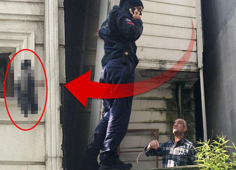 İstanbul'da bir apartmanın çatı katında boynundan iple asılarak öldürülmüş karga bulundu