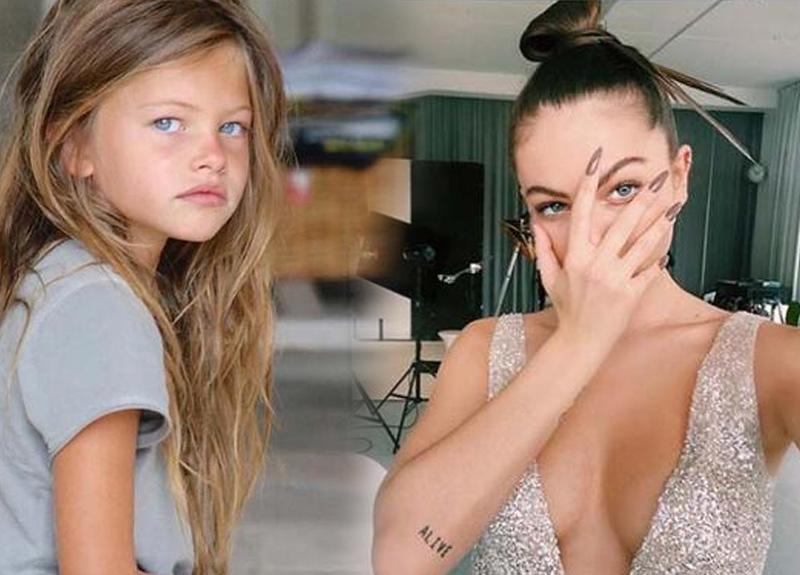 Çocuk model olarak tanınan Thylane Blondeau son haliyle herkesi büyüledi