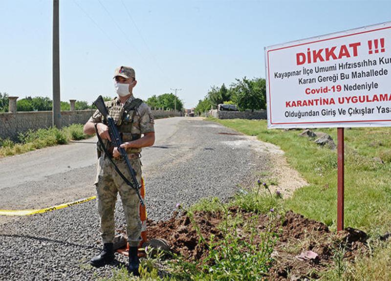 Diyarbakır'da Serap Güzeli Mahallesi karantinaya alındı!