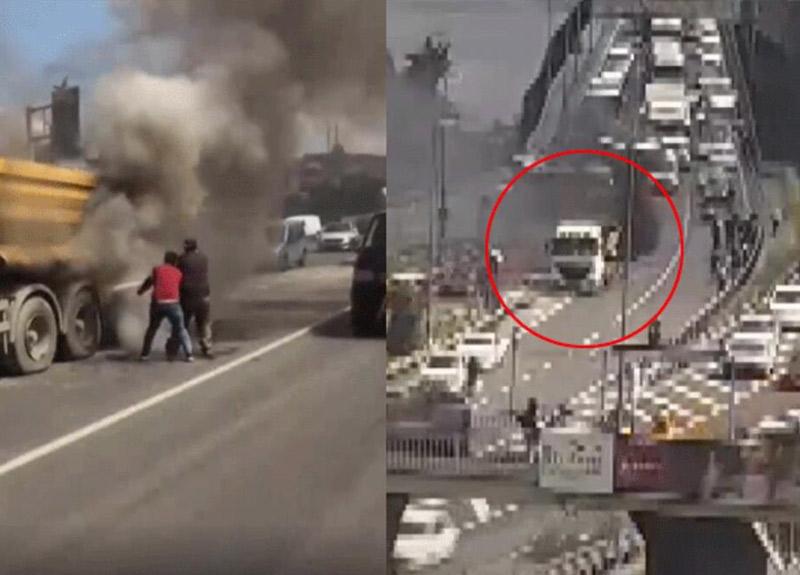 Haliç Köprüsü'nde korkutan yangın! Olay yerine ekipler sevk edildi...