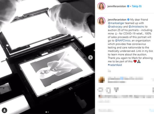 Hollywood yıldızı Jennifer Aniston'un çıplak portresi açık artırmaya çıktı!